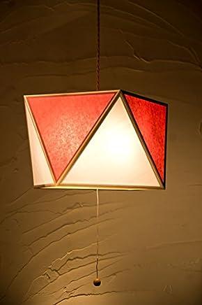 日本製和風ペンダントライト AP817-3-C 彩 -sai L - 3灯タイプ 白×緋