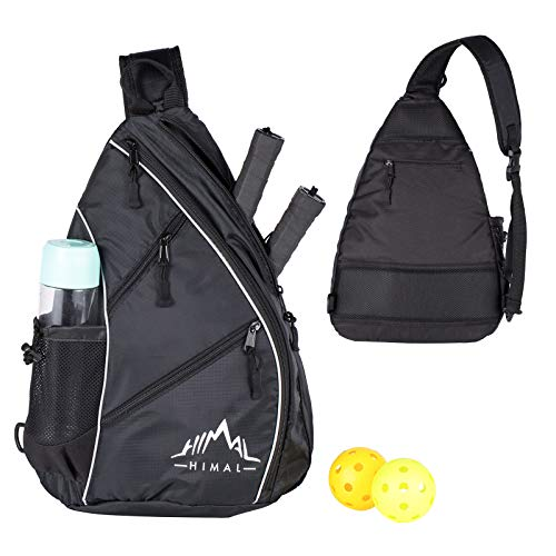 Himal Pickleball Bag- Adjustable Pickleball,Tennis,Racketball Sling Bag - Pickleball Backpack with Water Bottle Holder for Men and Women