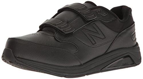 New Balance mens 928 V3 Hook and Loop Walking Shoe, Black/Black, 7.5 Wide US