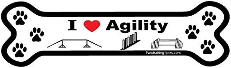 I Love Agility Bone Magnet