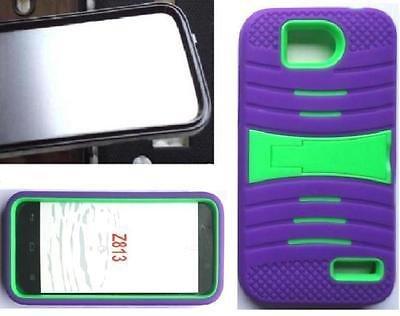 [ NP ARMOR ] Built-in Screen Guard Protector Faceplate Phone Case uPURPLE/Green for ZTE Atrium / Z793C / ZTE Scend LTE / Z791g / ZTE Overture 2 / Z813 / ZTE Maven/ZTE Fanfare Z812