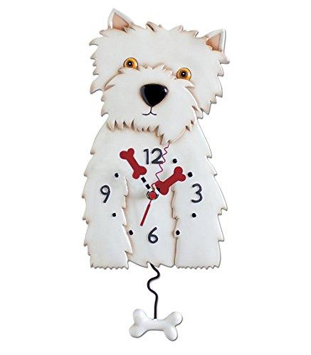 Allen Designs Horloge Murale Motif Chien Westie Clock