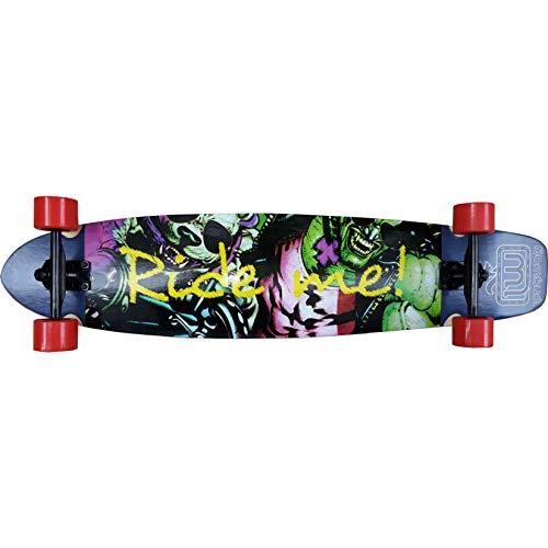 Longway Longboard - Skateboard Komplettboard - Board mit ABEC 11 High Speed Kugellager | Skateboard Kinder ab 5 Jahren