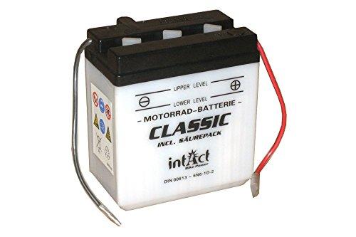 Intact Bike-Power Classic Motorradbatterie 6N6-1D-2 6Ah 6V (DIN 00613)