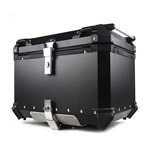 BESTSL Caja Trasera de Motocicleta, Caja Superior de Aluminio Universal para Motocicleta 36L Caja Trasera de Equipaje Caja de Almacenamiento de Maletero Trasero,Negro
