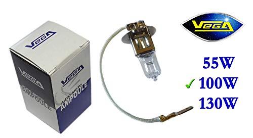 1 ampoule Vega® Halogène 'Maxi' H3 100W PK22s Marque Française 12V