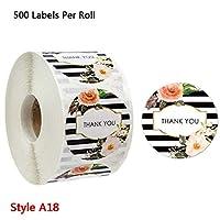 500ピース花あなたのビジネスステッカーパッケージありがとうシールシールラベル結婚式パーティースクラップブッキング文房具ステッカー