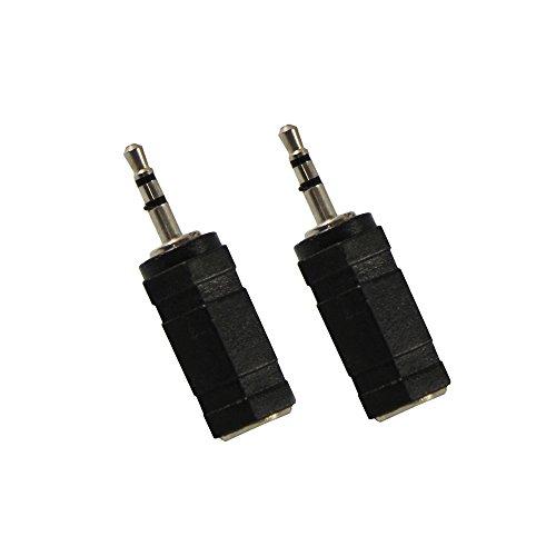 com-four® 2 Audio Adapter Stereostecker, 3,5mm auf 2,5mm Anschluss für Kopfhörer (02 Stück)