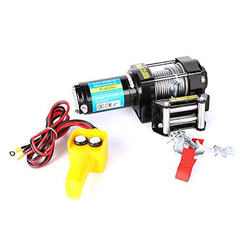 XINGXINGNS Cabrestante Cuerda cabrestante polipasto eléctrico 12VDC/24VDC 3500lb / 1500 kg con...