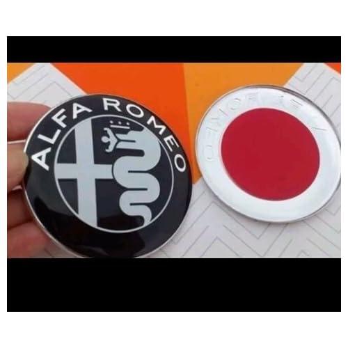 Negro frontal capó/Boot insignia/emblema 74 mm Set de 2