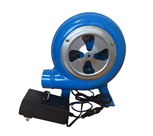 Yx-outdoor Soplador de Hoja de Hierro centrífugo para Barbacoa de 60 W, Ahorro de energía Estable y Firme, soplador eléctrico de Doble propósito de CA y CC (20 cm * 17 cm * 12 cm)