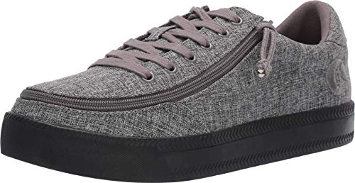 BILLY Footwear Classic Lace Low Chambray Charcoal Jersey 10