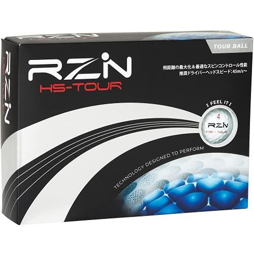 RZN Golf ゴルフボール 4ピース HS-TOUR 1ダース(12個入り) レジンゴルフ 日本正規流通品