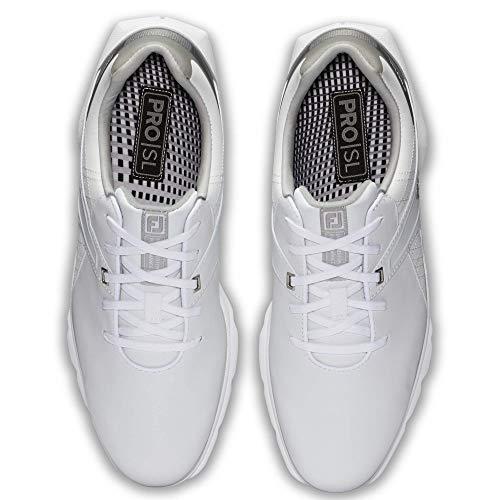 FootJoy mens Pro/Sl Golf Shoes, White/ Grey, 10.5 US