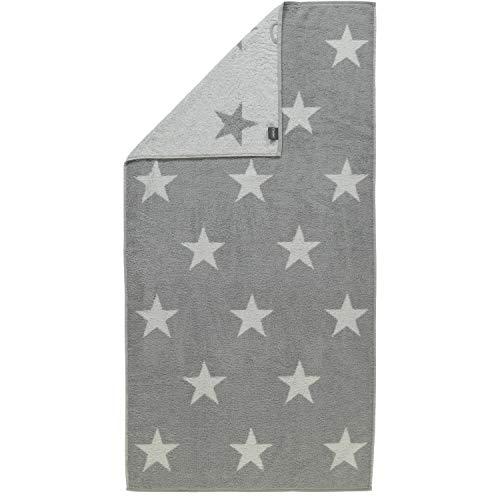 Cawö Duschtuch Stars Big 524 silber - 76 Größe 70 x 140