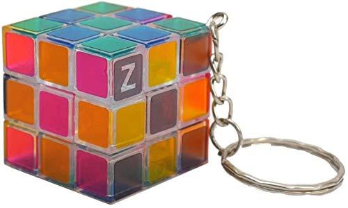 RENFEIYUAN Mini Lindo 3x3 mA Colgante de Moda Llavero Bolso Colgante Ornamento Rubik Cubo (Color : Transparent)