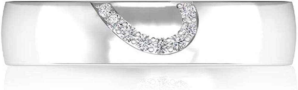 Prong Set IGI Certified Diamond Half Heart Bridal Wedding Ring, Unique Gold Engraved IJ-SI Diamond Engagement Anniversary Rings, Wide Women Band Rings