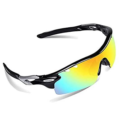 e024685aece Amazon.com   HODGSON Polarized Sports Sunglasses with 5 ...