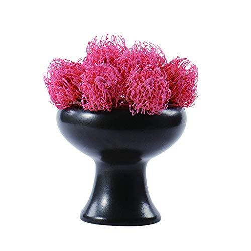 JIN Bonita Decoración Flores Artificiales Flor Artificial Bonsai Estilo Minimalista Creativo para la Sala de Té Del Hotel 11.8 Pulgadas Flor Falsa Bonsai con Eta de Cerámica (Rojo) Flores Falsas