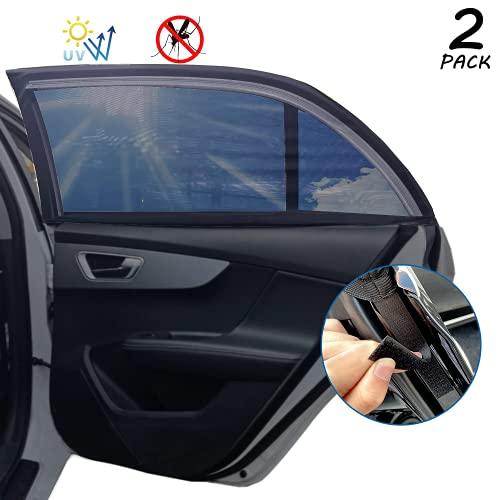LEMLEON Sonnenschutz Auto Baby Kinder Doppelseitiges UV Schutz Autofenster Sonnenschutz, Reduziert Wärme und Strahlung,für Familie häufig verwendet der Autos, großes Auto, SUV-(2 Stück)