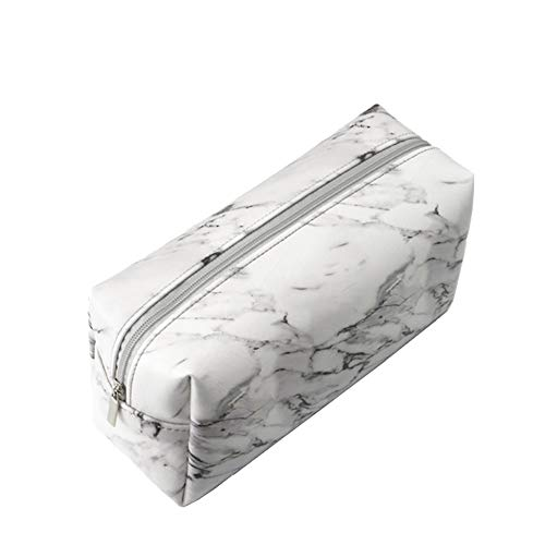 Hustar Marmor Textur PU Federmappe Mäppchen Kosmetiktasche Klein Makeup Taschen für Handtasche