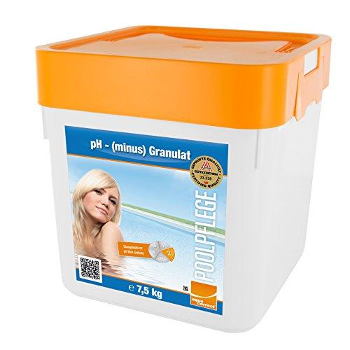 Steinbach Poolpflege pH minus Granulat, 7,5 kg, pH-Regulierung, 0753005TD02