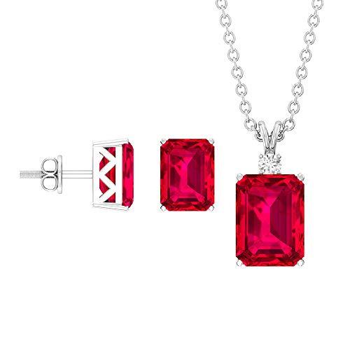 Rosec Jewels 18 quilates oro blanco round-brilliant-shape H-I Diamond