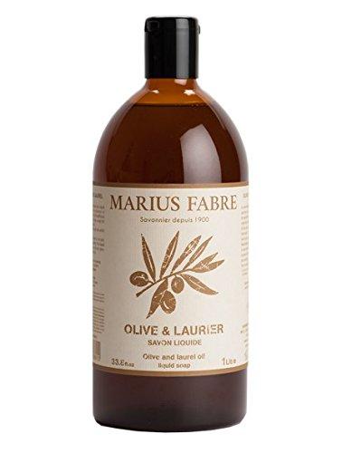 Marius Fabre Gamme ALep - Savon Liquide Olive et Laurier Recharge 1L