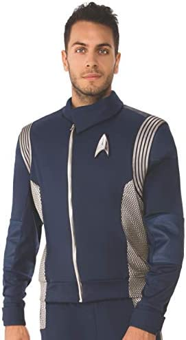 Rubie s Men s Deluxe Star Trek Discovery Science Jacket silver Extra Large product image