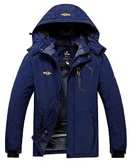 Wantdo Men's Windproof Rain Jacket Warm Winter Snow Parka Blending Navy X-Large (B07PG92DTN) | Amazon price tracker / tracking, Amazon price history charts, Amazon price watches, Amazon price drop alerts