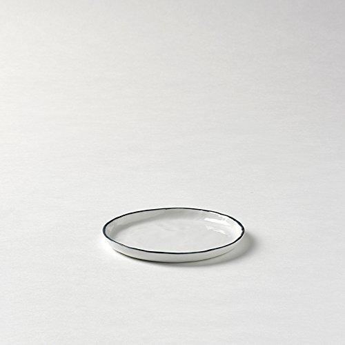 Piana Teller Weiß Rand Basaltgrau D 13,5 Cm