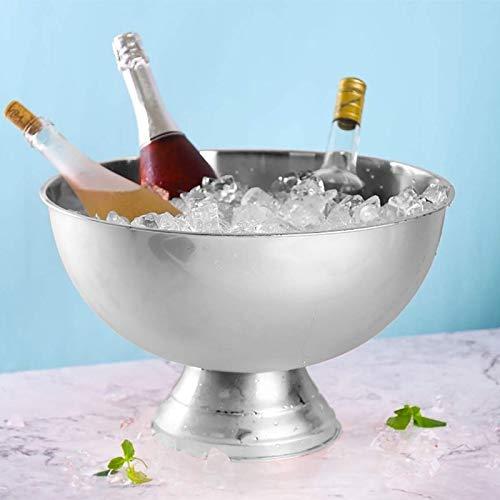 AJMINI Ice Bucket, geïsoleerd roestvrij staal dubbelwandige Ice Bucket, rode wijn, champagne, bier ijs bucket13.5L