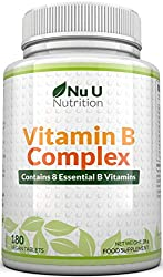 Vitamin B Complex 180 tablets by Nu U