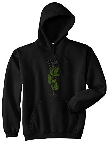 Kings Of NY Kings Black Roses Mens Pullover Hoodie Hoody Medium Black
