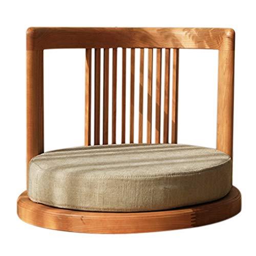 Chaise étage Salon Solide Chaise en Bois lit Tabouret Balcon Baie fenêtre étage Chaise Chambre Tabouret Bas (Color : Brown, Size : 52 * 52 * 40cm)