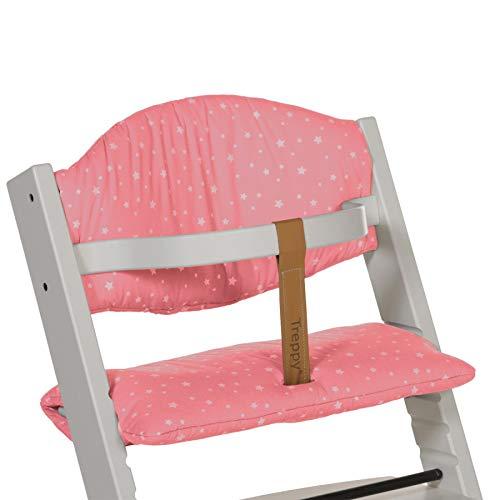 Treppy Stars Sitzkissen für Treppy Hochstuhl aus Baumwolle, rosa 1087