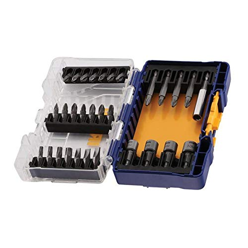 IRWIN IW6062508 - Juego ToughCase pequeño de 30 piezas: puntas de 25 mm, puntas de 50 mm, portapuntas magnético torsión y 4 llaves de vaso.