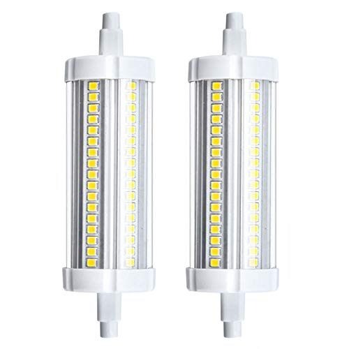 Bonlux R7s - Bombilla LED R7s, 118 mm, 20 W, blanco cálido, 3000 K, 150 W, R7s, bombilla halógena lineal, J118, bombilla R7s, lámpara de proyector (no regulable, 2 paquetes)