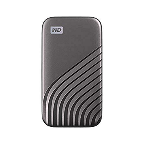 WD 2 TB My Passport Portable SSD with NVMe Technology, USB-C, Read Speeds of up to 1050 MB/s & Write Speeds of up to 1000 MB/s. Works with PC, PS5, Xbox X, Xbox S - Space Grey
