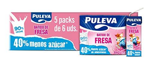 Puleva Batido de Fresa - Pack de 5 - 6 x 200 ml - Total: 6000 ml
