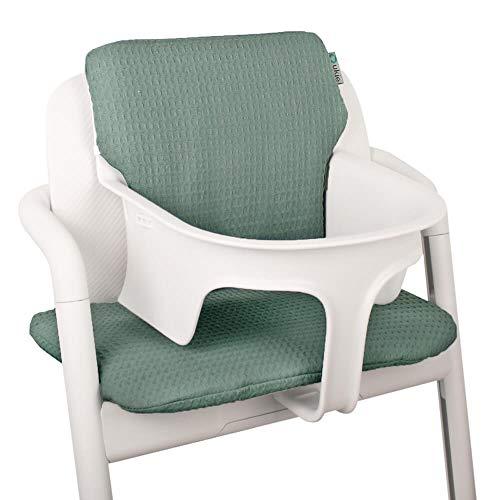 Baby Sitzkissen Sitzverkleinerer für Cybex Lemo Hochstuhl von UKJE Jade Waffelpique Praktisch und dick gepolstert Maschinenwaschbar 2-teilig Öko-Tex Baumwolle