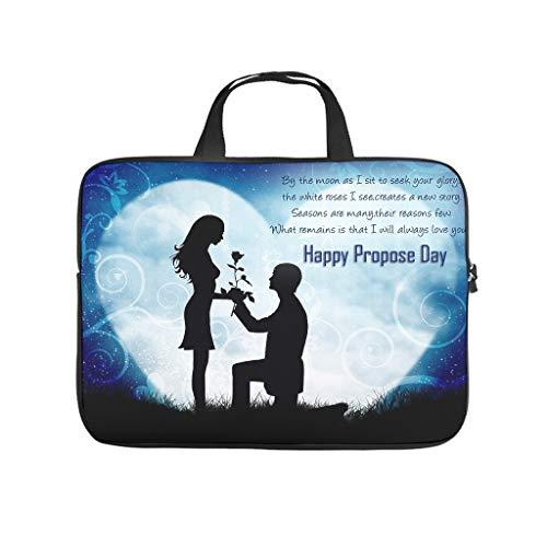 Happy Promise Day - Bolsa para ordenador portátil resistente al desgaste, para universidad, trabajo o negocio