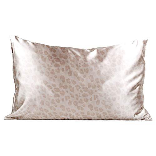Kitsch 100% Satin Pillowcase, Vegan Silk Pillowcase, Standard (Leopard)