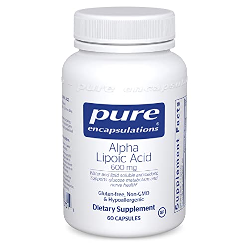 Pure Encapsulations Alpha Lipoic Acid 600 mg   ALA Supplement for Liver Support, Antioxidants, Nerve and Cardiovascular Health, Free Radicals, and Glucose Support*   60 Capsules