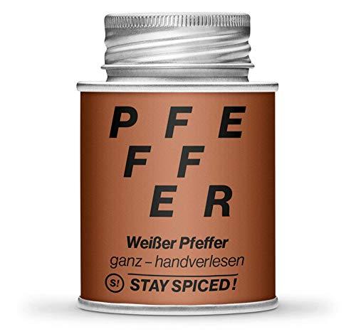 STAY SPICED ! Weißer Pfeffer I Edles Reingewürze I Ganz und Handverlesen in Premiumqualität I 170 ml