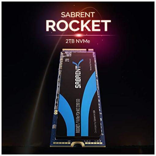 Sabrent 2TB Rocket NVMe PCIe M.2 2280 SSD interno Unidad de estado sólido de alto rendimiento (SB-ROCKET-2TB) 3