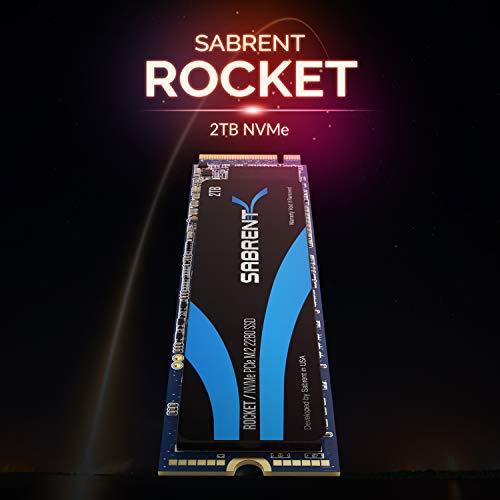 Sabrent SSD Interno 2TB Rocket NVMe PCIe M.2 2280 Drive a Stato Solido ad Alte Prestazioni (SB-ROCKET-2TB)