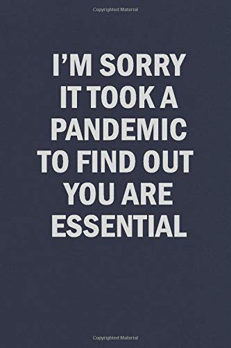 I'm Sorry It Took at Pandemic To Find Out You Are Essential: Funny Blank Lined Journal Notebook for Friends Family and Coworkers
