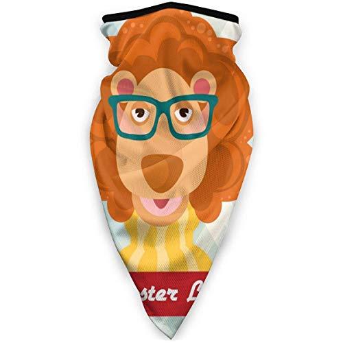 ZXYAIAN Hipster Lion - Máscara de esquí para exteriores, resistente al viento, para deportes