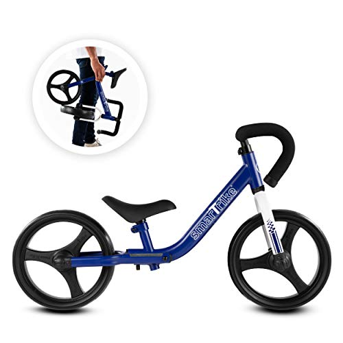 smarTrike Folding Adjustable Kids Balance Bike with Protective Elbow & Knee Pads Included - Bicycle for Toddlers Boys & Girls Ages 2-5 Years Old